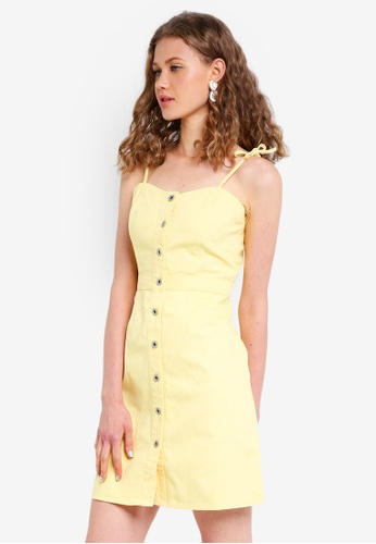 Jack Wills yellow Honeybalme Tie Shoulder Dress A1DDCAA098DEACGS_1