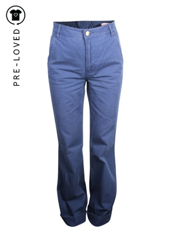 TORY BURCH blue tory burch Flare Navy Pants 7431BAA42E71F8GS_1