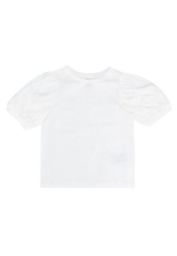 ONLY white Novie Puffed Sleeves Top 5E8BDKA99A0FF6GS_1