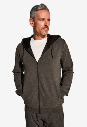 LC WAIKIKI grey Plain Thick Hooded Cardigan 71F03AA8420989GS_1