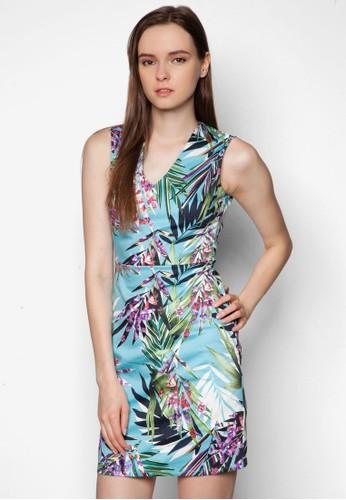 熱帶zalora 折扣碼雨林印花連身裙, 服飾, 洋裝