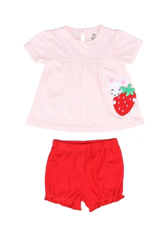 Milliot & Co. pink Allen Girls Top & Bottom Set 63BBFKA232F3F0GS_1