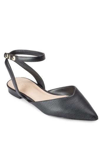 Brienesprit 品牌i 尖頭繞踝平底涼鞋, 女鞋, 鞋