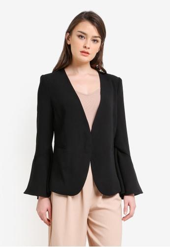 Zalia black Flare Sleeve Jacket 27D3EZZC92C8EAGS_1