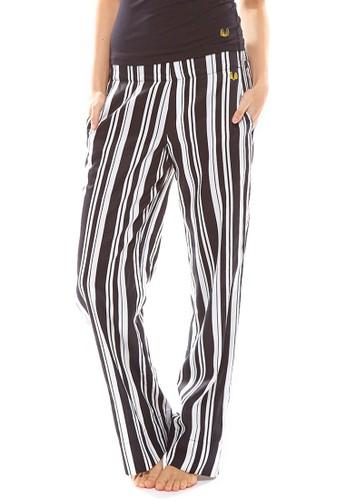 Milliner 條紋esprit分店地址寬鬆休閒長褲, 服飾, 睡褲