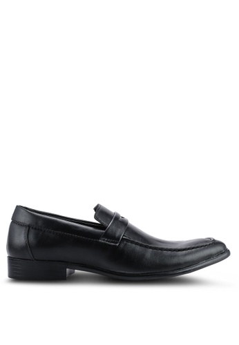 UniqTee 黑色 Penny Loafer 皮鞋 0D46ESH41771A6GS_1