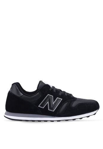 New Balance black 373 Lifestyle Sneakers 49AEFSHDFD73D7GS_1