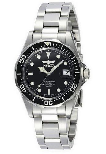 INVICTA silver Invicta Pro Diver Men 37.5mm Case Silver Stainless Steel Strap Black Dial Quartz Watch 8932 IN968AC0F5E6SG_1