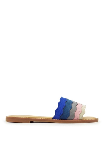 Carlo Rino blue Carlo Rino 33370-A006-13 Slide Flat Sandals (Blue) 79F57SH3CB71ACGS_1