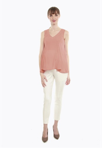 Bove by Spring Maternity orange Cyrille Top 86F8DAAAC5DADFGS_1