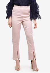 Zalia pink Satin Cigarette Pants A1346ZZ1D9EA01GS_1