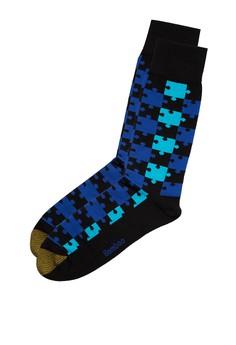 Puzzle Piece Pattern Socks