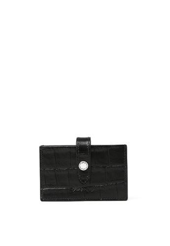 RABEANCO black RABEANCO Multiple Card Holder - Croc-Embossed Black 35004AC28E5971GS_1