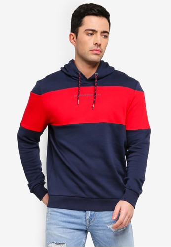 ESPRIT multi and navy Long Sleeve Contrast Hoodie 3B151AAB72A02BGS_1