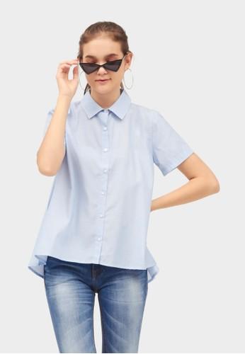 Point One blue LUANA Light Shirt DE1DCAA65F745AGS_1