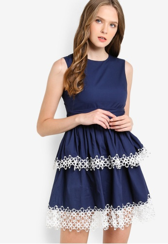 Megane navy Juin Dress ME617AA21HFUMY_1
