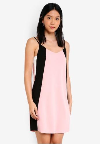 ZALORA multi Strappy Colourblock Dress E6AE5AAFD0F0A3GS_1