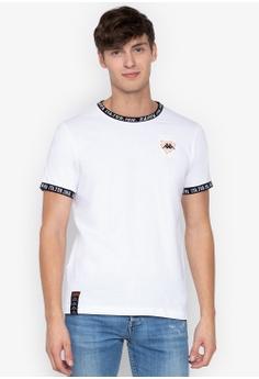 f572c95524470 Kappa white Sports Knitted Neck Ribbing T-shirt 7B1A2AAF7F4B9DGS 1