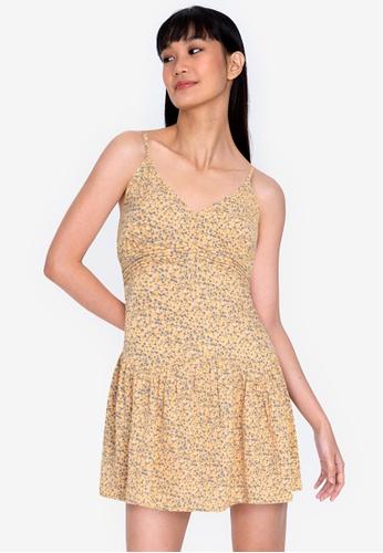 ZALORA BASICS multi V-Neck Cami Mini Dress E49D1AACD0E920GS_1