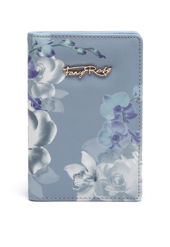 Fancy Rosy blue Floral Printed Passport Holder FA885AC57XVEHK_1