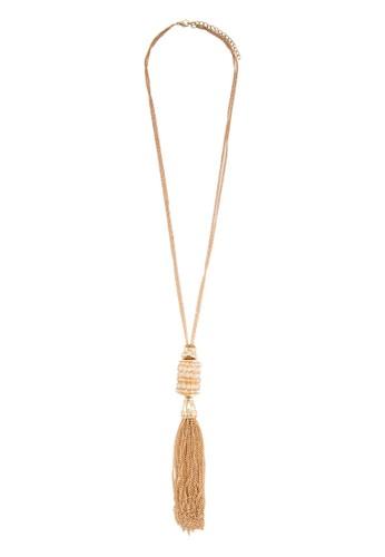 Pisaesprit服飾 水晶墜飾流蘇項鍊, 飾品配件, 項鍊