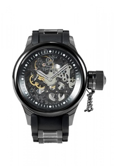 b7359be1f8ff INVICTA black 17275 Russian Diver Mechanical Skeleton Dial Polyurethane  Stainless Steel Men s Watch 20194ACDE25C06GS 1