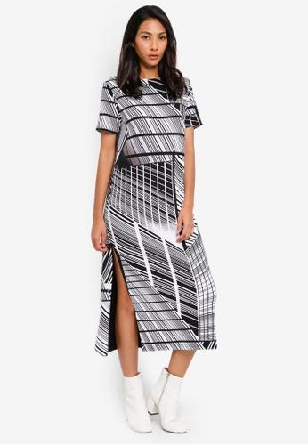 UniqTee black Side Split Maxi Dress B8C6CAAC502DF2GS_1