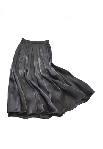 Twenty Eight Shoes black VANSA Pearly Yarn Pleated Skirt VCW-Sk18588 B5810AA1FD1D8CGS_1