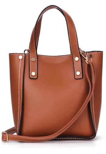 Lara brown Shoulder Bag with Pouch BD712AC68E9A8FGS_1