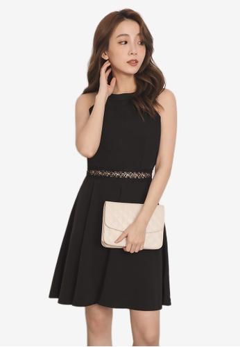 Yoco black Lace Detail Halter Dress 832AFAA5EED8C4GS_1