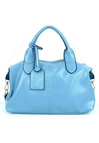 BELLE LIZ blue Ladies Superb Tag Crossbody PU Handbag Blue 36716AC8E19A26GS_1