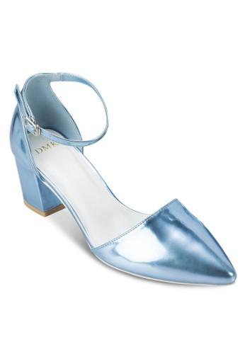 金屬感尖頭粗跟涼鞋, 女鞋, esprit outlet 台灣鞋