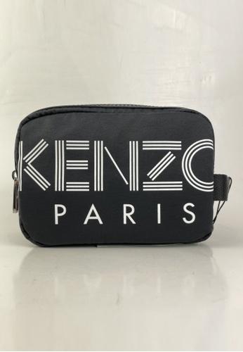 Kenzo black PRE-LOVED KENZO LOGO TOILETRIES POUCH 70838AC24BB72AGS_1