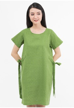 harga Leaf Dot Tied Dress Zalora.co.id