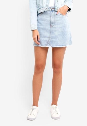 Cotton On blue The Remade Mini Denim Skirt D9D01AA913D10AGS_1