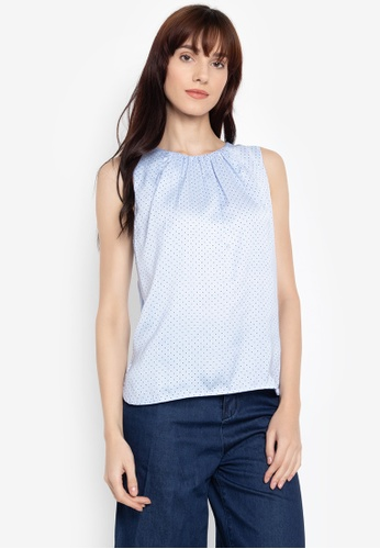 3c48908ae1a109 Shop Cortefiel Sleeveless Top With Ruching Neckline Online on ZALORA  Philippines