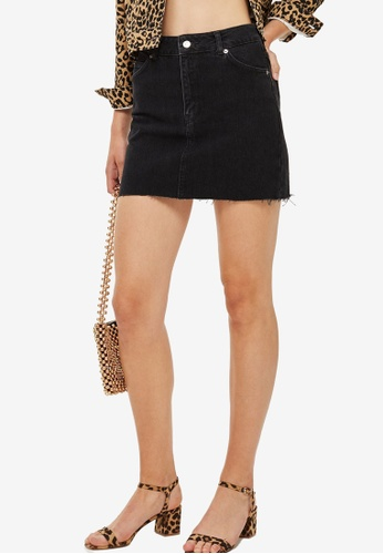 0df6b9aa2d6f Buy TOPSHOP Moto Denim Mini Skirt Online on ZALORA Singapore