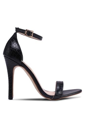 ee9b2a95e857 Nose black Animal Print Strappy Heels B8A97SH32F9C01GS 1