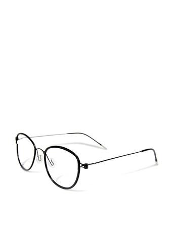 ASLLY black Black Comedy│Anti-blue Light Glasses With Black Detailed Frame 2A269GL4ED437CGS_1