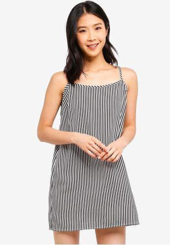 ZALORA BASICS black Basic Strappy Mini Dress 97EADAA3814D3EGS_1