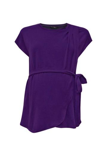 9months Maternity purple Purple Front Overlap Nursing Top C12A6AAE3DE721GS_1