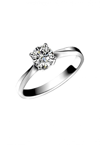 Elfi silver Elfi 925 Genuine Silver Engagement Ring T17 - The True Love EL186AC62DFLMY_1