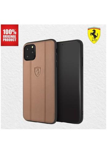"""Ferrari multi Ferrari - Off Track Leather Embossed - Case IPhone 11 Pro 5.8"""" - Camel 8759AES5DB20DAGS_1"""