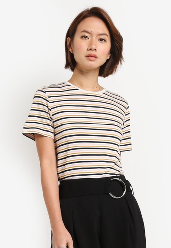 WAREHOUSE 多色 Multicolour Stripe Tee 26F51AAFB07C88GS_1