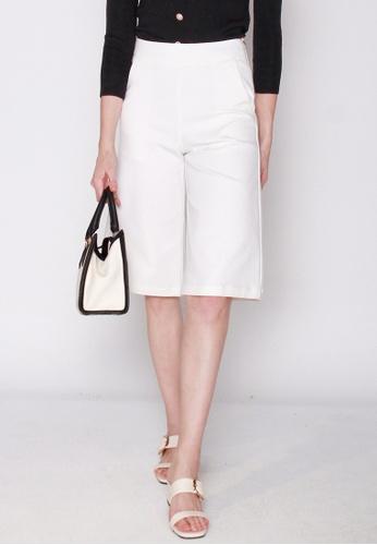 JOVET white Classic Culottes 9E922AA4F3EBD5GS_1