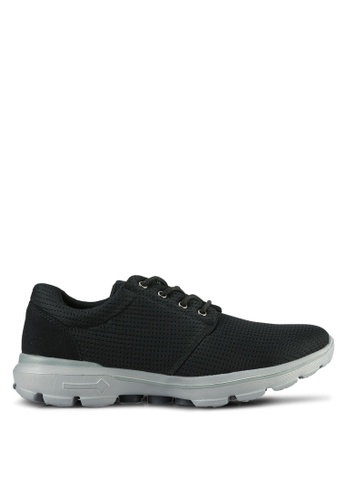UniqTee black Lightweight Lace Up Sport Sneakers UN097SH0S21EMY_1