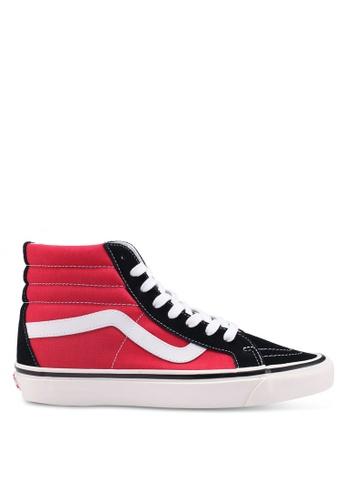 VANS black and red SK8-Hi 38 DX Anahiem Factory Sneakers B850BSHD492529GS_1