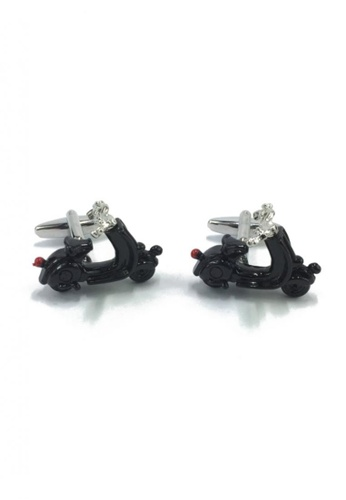 Splice Cufflinks black Novelty Black Scooter Cufflinks SP744AC48EYXSG_1
