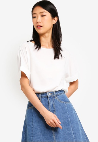 ZALORA BASICS white Basic Boatneck Oversized Top DF6B8AA2A7462CGS_1