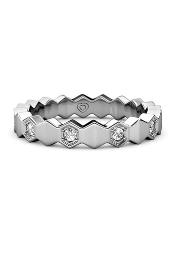 Her Jewellery silver Ivan Ring (White Gold) - Made with premium grade crystals from Austria 10895AC4F15683GS_1